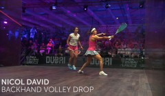 Nicol David: Backhand volley drop