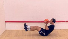 Medicine ball side toss