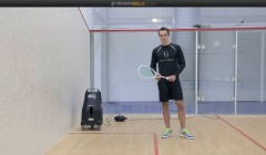 Backhand crosscourt nick technique