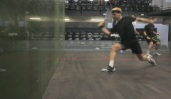 Hitting routine of boast, cross court and straight drive